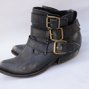Jeffrey Campbell Phillips Buckle Ankle Distressed